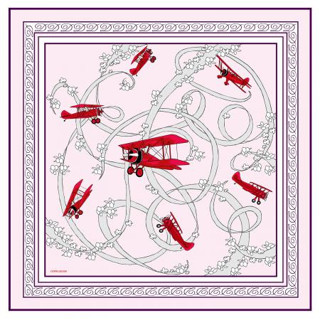 Acrobatic Biplane pocket square 1