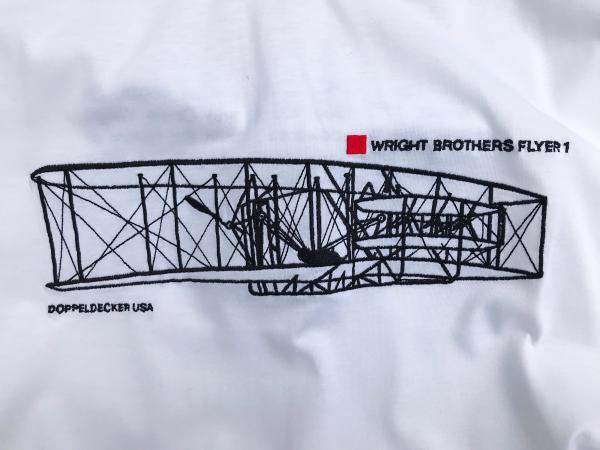 Wright Flyer t-shirt in white 1