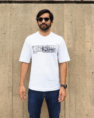 Wright Flyer t-shirt in white 2