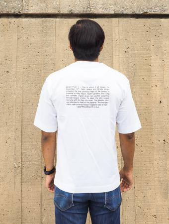 Wright Flyer t-shirt in white 3