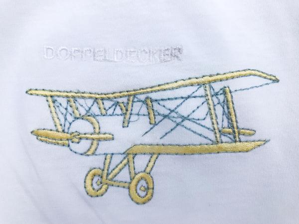 Biplane t-shirt in white 2