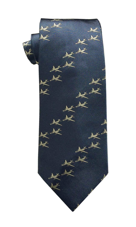 doppeldecker design designer aviation aircraft silk tie a3
