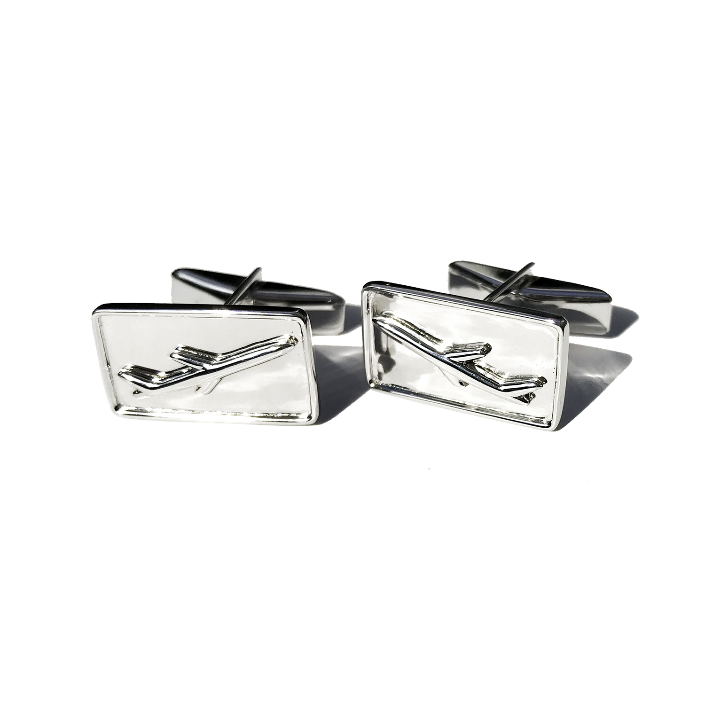 Airliner children's cufflinks in sterling silver