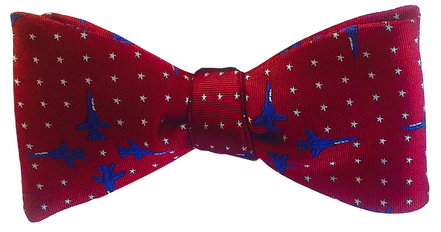 doppeldecker design designer aviation airplane aircraft silk bow tie bowtie f14 f-14