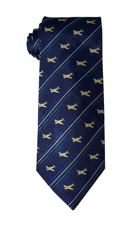 doppeldecker design designer aviation airplane aircraft silk bow tie bowtie p-47 p47