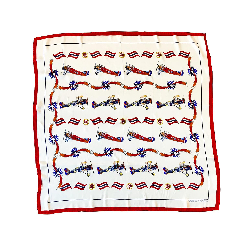 doppeldecker silk scarf spirit of independence