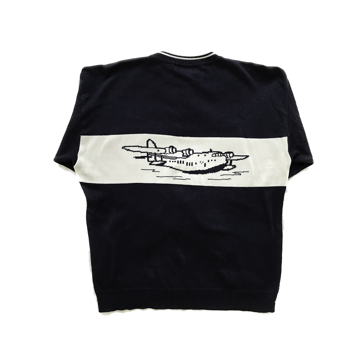 doppeldecker flying boat clipper sweater
