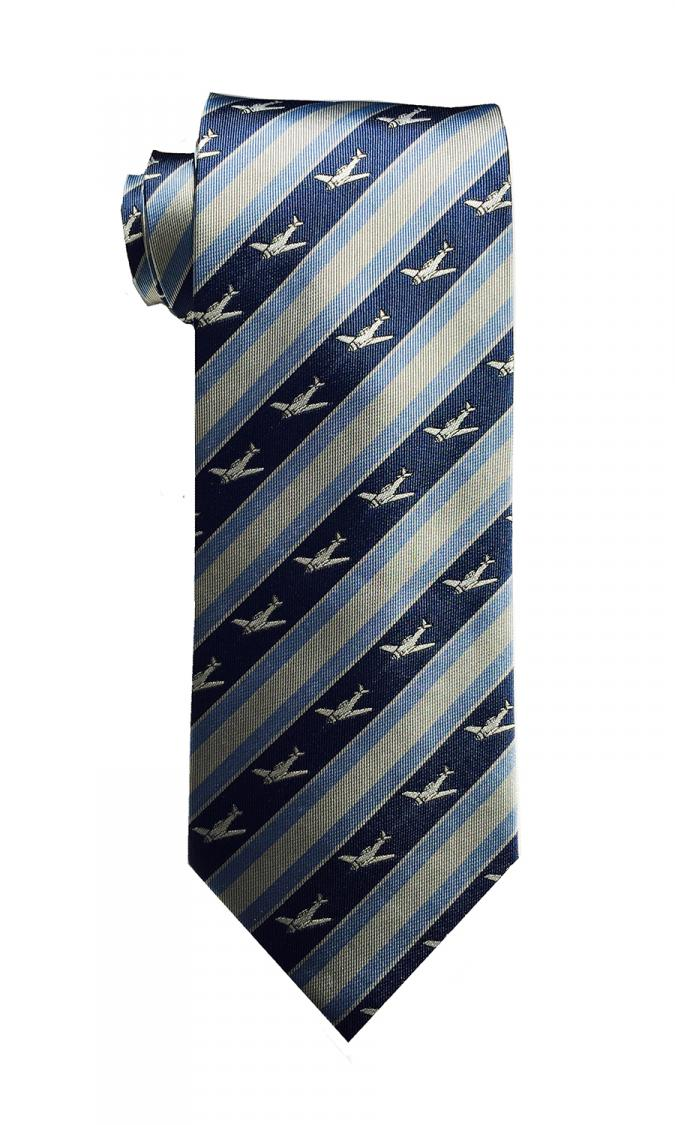 doppeldecker design designer aviation aircraft silk tie t6 t-6