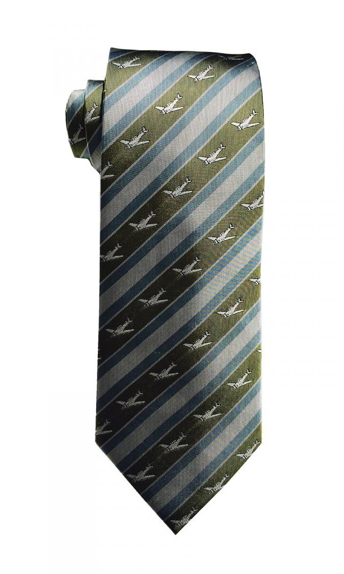 doppeldecker design designer aviation aircraft silk tie t-6 t6