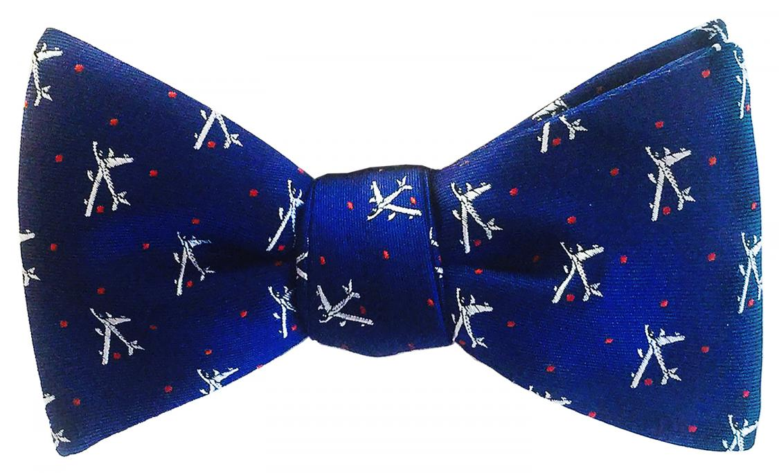 doppeldecker design designer aviation aircraft silk bow tie bowtie b47 b-47