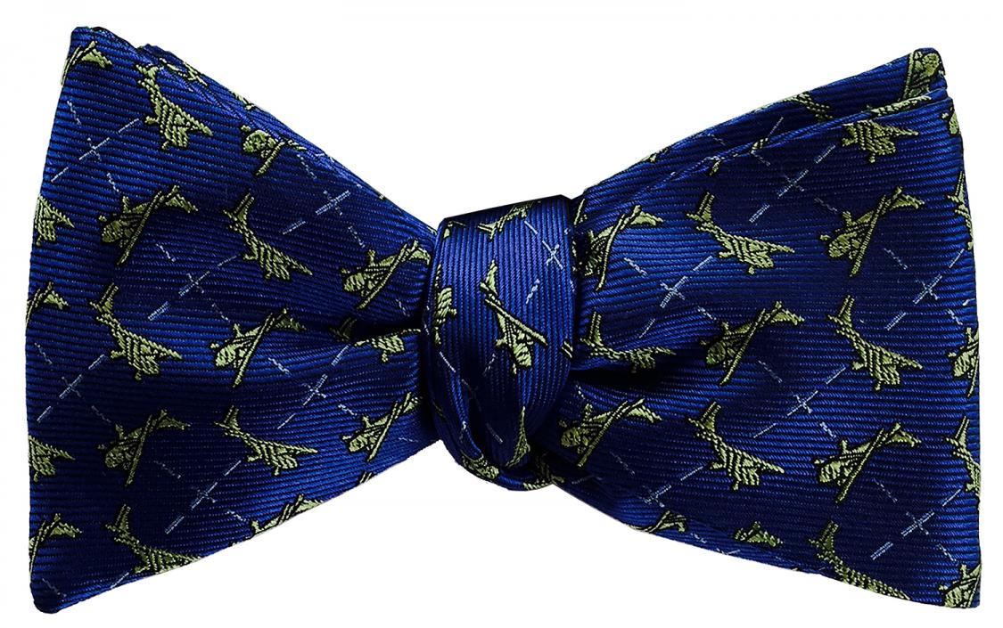 doppeldecker design designer aviation aircraft silk bow tie bowtie cessna