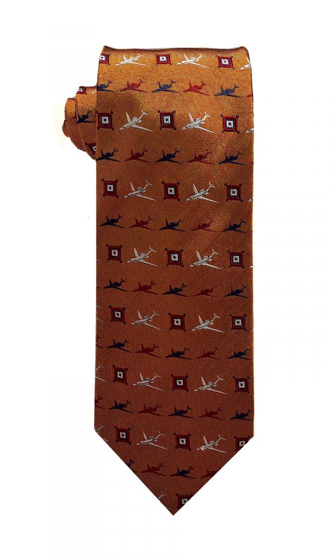 doppeldecker design designer aviation aircraft silk bow tie bowtie citation