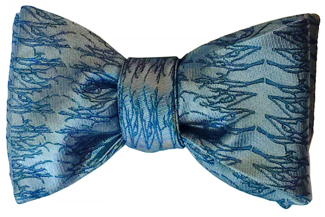 doppeldecker design designer aviation aircraft silk bow tie bowtie winter twig
